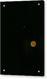 Moon And The Sun Acrylic Print by Marie Neder