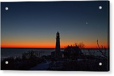 Moon And Venus - Headlight Sunrise Acrylic Print
