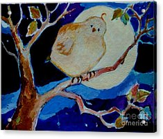 Moon Bird Acrylic Print by Diane Ursin