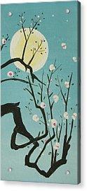 Moon Blossoms Acrylic Print