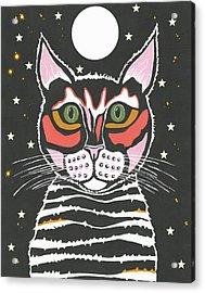 Moon Cat - Funny Animal Acrylic Print