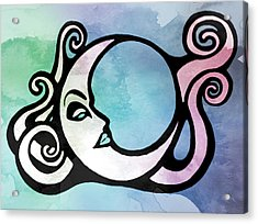 Moon Child Tie Dye Acrylic Print by Little Bunny Sunshine