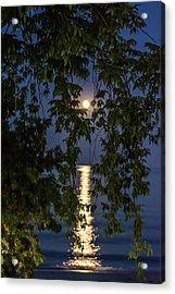 Moon Curtain Acrylic Print