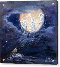 Moon Dance Acrylic Print by Silvia  Duran