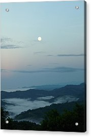 Moon Dancing With The Sea Acrylic Print by Gregory Young