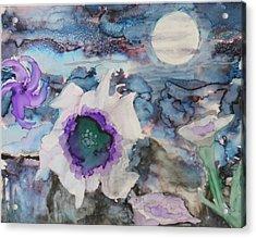 Moon Flower In Bloom Acrylic Print