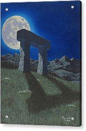 Moon Gate Acrylic Print by Martin Bellmann
