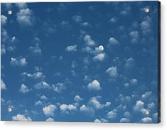 Moon In The Morning Sky Acrylic Print