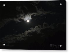 Acrylic Print featuring the photograph Moon In The Sky 2 by Paul SEQUENCE Ferguson             sequence dot net