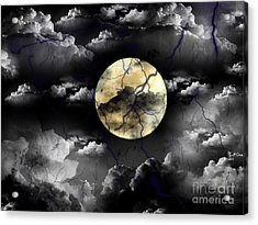 Moon In The Storm Acrylic Print