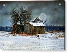 Moon Light Barn Acrylic Print
