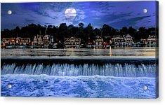 Moon Light - Boathouse Row Philadelphia Acrylic Print