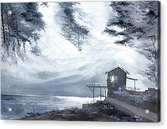 Acrylic Print featuring the painting Moon Light New by Anil Nene