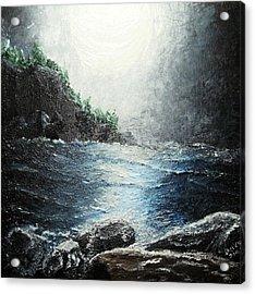 Moon Light On The Ocean Acrylic Print