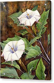 Moon Lilies Acrylic Print