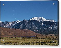 Moon Lit Colorado Great Sand Dunes Starry Night  Acrylic Print by James BO Insogna