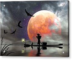 Moon Mist Acrylic Print