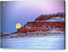 Acrylic Print featuring the photograph Moon Of The Popping Trees by Fiskr Larsen