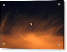 Moon On Fire Acrylic Print by Mandy Wiltse