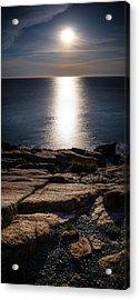Moon Over Acadia Shores Acrylic Print