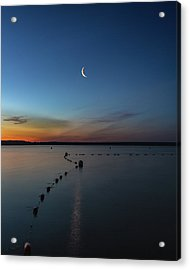 Moon Over Cayuga Acrylic Print