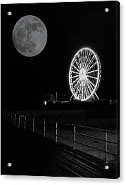 Moon Over Ferris Wheel Acrylic Print