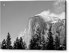 Moon Over Half Dome Acrylic Print