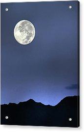 Moon Over Ko'olau Acrylic Print by Dan McManus