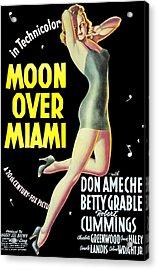 Moon Over Miami, Betty Grable, 1941 Acrylic Print by Everett