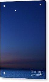 Moon Over Michigami Acrylic Print by Thomas R Fletcher