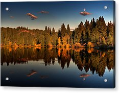 Moon Over Mill Pond Acrylic Print by Mick Burkey