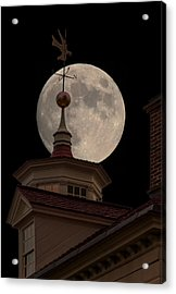 Moon Over Mount Vernon Acrylic Print