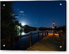 Moon Over North Pond Acrylic Print