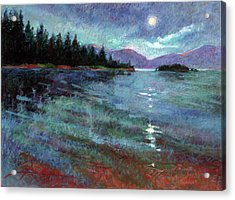 Moon Over Pend Orielle Acrylic Print
