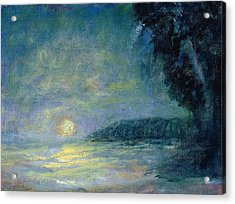 Moon Over Pt Dume Acrylic Print