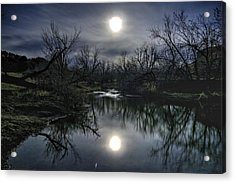 Acrylic Print featuring the photograph Moon Over Sand Creek by Fiskr Larsen