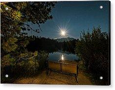Moon Over Sawmill Lake Acrylic Print