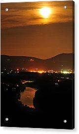 Acrylic Print featuring the photograph Moon Over Shenandoah by Lara Ellis