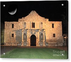 Moon Over The Alamo Acrylic Print