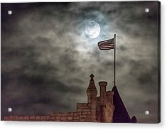 Moon Over The Bank Acrylic Print by Rob Graham