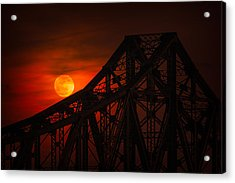 Moon Over The Bridge Acrylic Print