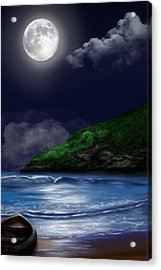 Moon Over The Cove Acrylic Print