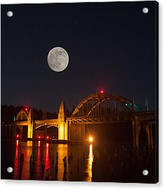 Moon Over The Siuslaw Acrylic Print