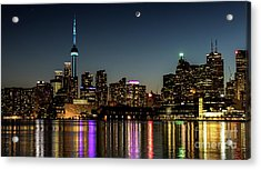 Moon Over Toronto Acrylic Print