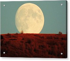 Moon Over Utah Acrylic Print by Charlotte Schafer