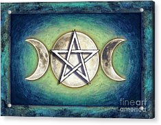Moon Pentagram - Tripple Moon 2 Acrylic Print
