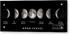 Moon Phases Acrylic Print
