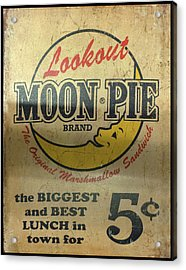 Moon Pie Antique Sign Acrylic Print