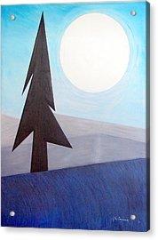 Moon Rings Acrylic Print by J R Seymour