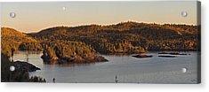 Moon Rise Over Pukaskwa Acrylic Print